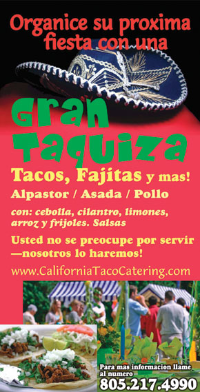 Mexican Food Catering, Spanish